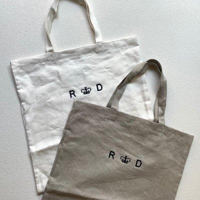 画像1: R&D.M.Co-/オールドマンズテーラー  リネンデニム トートバッグ フラックス