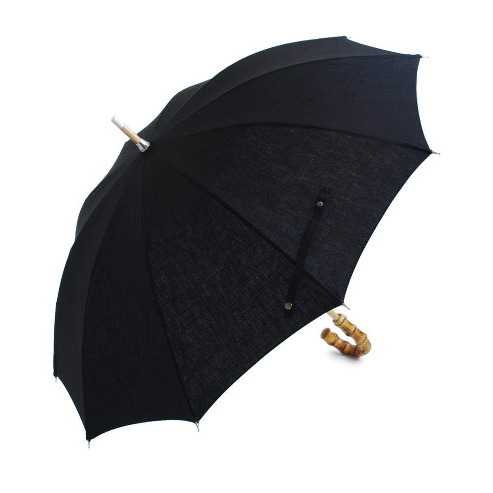 画像1: CINQ/サンク 晴雨兼用傘(ブラック) (1)