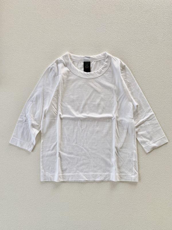画像1: homspun/ホームスパン 天竺七分袖Tシャツ サイズM (1)