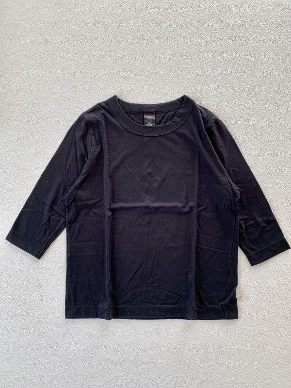画像1: homspun/ホームスパン 天竺七分袖Tシャツ サイズL (1)