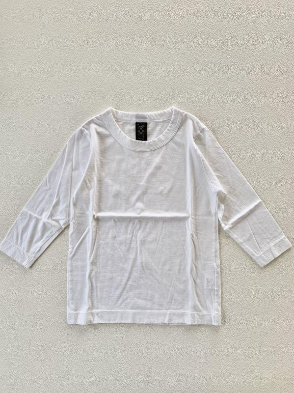 画像1: homspun/ホームスパン  天竺七分袖Tシャツ サイズS (1)