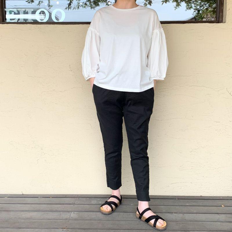 画像1:  送料無料♪  Gauze#/ガーゼ  コットンパフスリーブTシャツ 2色展開 (1)