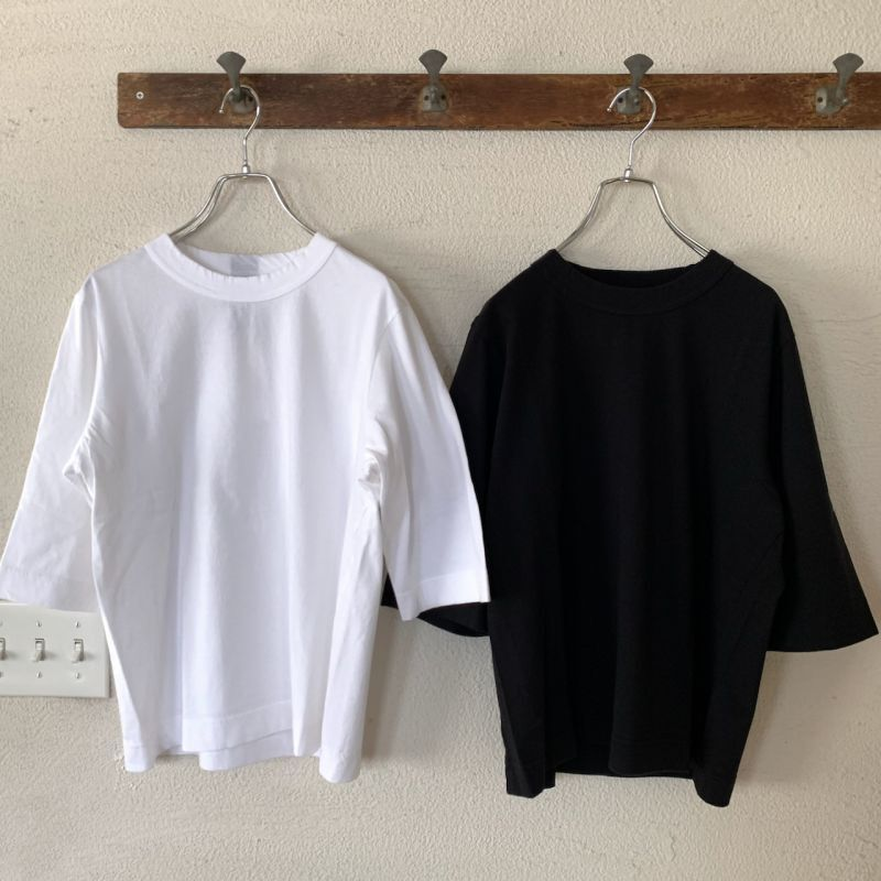 画像1: homspun/ホームスパン 天竺6分袖Tシャツ (1)
