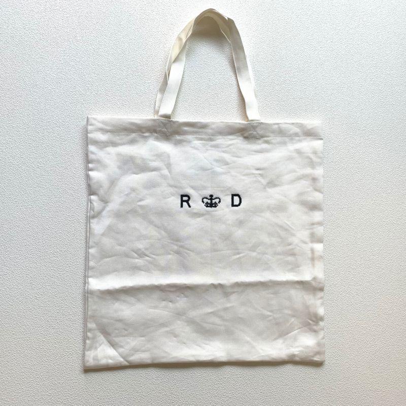 画像1: R&D.M.Co-/オールドマンズテーラー  リネンデニム トートバッグ ホワイト (1)