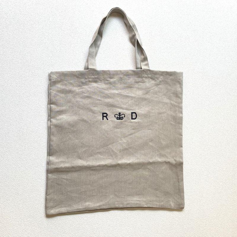 画像1: R&D.M.Co-/オールドマンズテーラー  リネンデニム トートバッグ フラックス (1)
