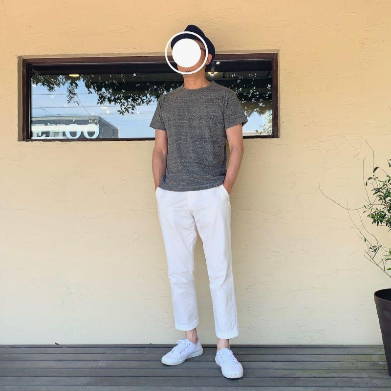 画像1: homspun/ホームスパン 天竺半袖Tシャツ サイズXL(メンズS) (1)