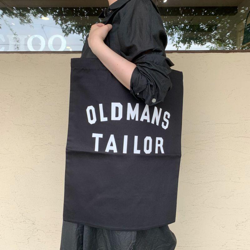 画像1: OLD MAN'S TAILOR/オールドマンズテーラー  OMTプリントトートバッグ ブラック (1)